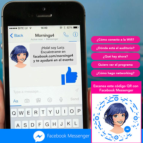 Lucy en Facebook Messenger